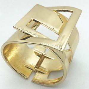 Jewelry - Gold Cuff Hinged Bracelet